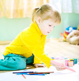 Baby paint Stock Photography