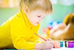 Baby paint Royalty Free Stock Images