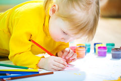 Baby paint Royalty Free Stock Image