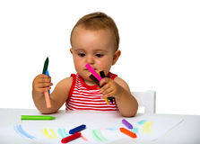 Baby painting Royalty Free Stock Image