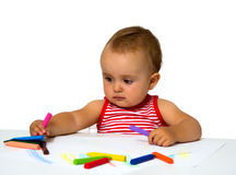 Baby painting Stock Image