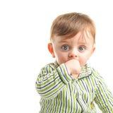 Baby in pajama royalty free stock photo