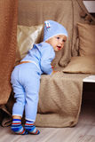 Baby in pajamas Royalty Free Stock Image