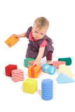 Baby palying with toy blocks Royalty Free Stock Image
