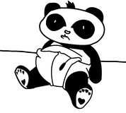 Baby Panda. It's the cutest baby panda Royalty Free Stock Photos