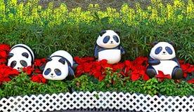 Baby panda figurines Royalty Free Stock Photos