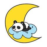 Baby panda sleeping on the cloud Royalty Free Stock Photos