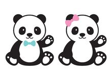 Baby Panda Vector Illustration Royalty Free Stock Photography