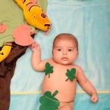 Baby in paradijs Royalty-vrije Stock Fotografie