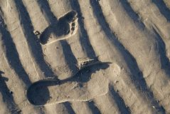 Baby and parent footstep Royalty Free Stock Photos