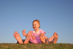 Baby and parent's legs Royalty Free Stock Photography