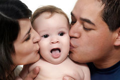 Baby with parents Stock Photography