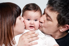 Baby with parents Royalty Free Stock Images