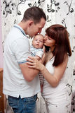 Baby with parents Royalty Free Stock Photography