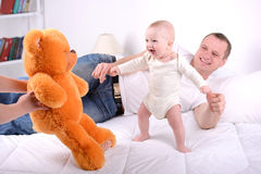 Baby And Parents stock images