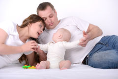 Baby And Parents royalty free stock image