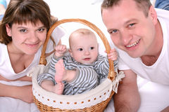 Baby And Parents stock image