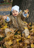 Baby in park Royalty Free Stock Photography