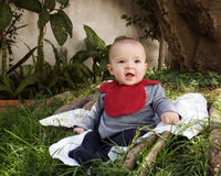 Baby in a park Royalty Free Stock Image