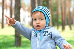 Baby at the park Royalty Free Stock Photography