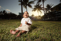 Baby in the park Royalty Free Stock Image