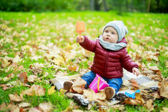 Baby in the park Royalty Free Stock Photos
