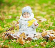 Baby in the park Stock Photos