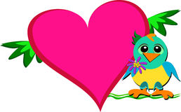 Baby Parrot with Lots of Heart Royalty Free Stock Image