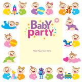 Baby party shower invitation Royalty Free Stock Image