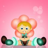 Baby in Pasen met chocoladeeieren Royalty-vrije Stock Fotografie
