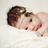 Baby, pasgeboren meisje stock fotografie