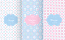 Baby pastel different vector seamless patterns. Endless texture can be used for wallpaper, pattern fills, web page background, surface textures. Set of cute vector illustration
