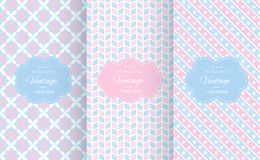 Baby pastel different vector seamless patterns. Endless texture can be used for wallpaper, pattern fills, web page background, surface textures. Set of cute stock illustration