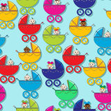 Baby pattern. Seamless pattern with new born babies Royalty Free Stock Image