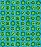 Baby pattern blue green. Blue and green seamless baby pattern Stock Photography
