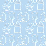 Baby pattern for boy Stock Photography