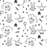 Baby pattern design. Nursery kid background. Stock Images