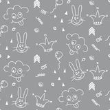 Baby pattern design. Nursery kid background. Royalty Free Stock Photography