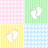 Baby pattern with feet Royalty Free Stock Photos