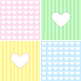 Baby pattern with heart Royalty Free Stock Photos