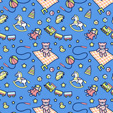 Baby pattern Royalty Free Stock Images