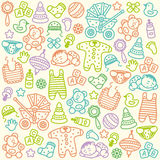 Baby pattern Royalty Free Stock Photos