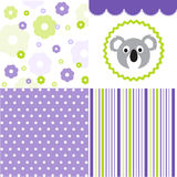 Baby pattern set Royalty Free Stock Images
