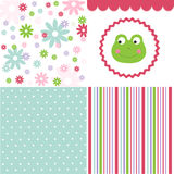 Baby pattern set Royalty Free Stock Image