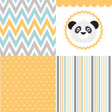 Baby pattern set Stock Images