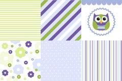 Baby pattern set Royalty Free Stock Image