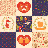 Baby patterns and illustrations. Vector collection. Royalty Free Stock Photos