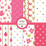 Baby patterns Stock Photography
