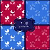 Baby patterns royalty free illustration