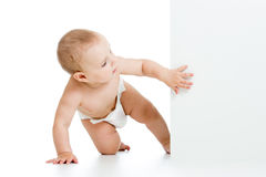 Baby peeking out poster Stock Photography